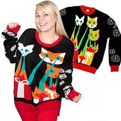 Click to get Ugly Christmas Sweater Laser CatZillas