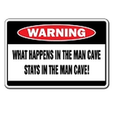 Click to get Man Cave  What Happens Tin Sign