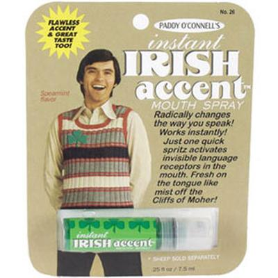 Click to get Instant Irish Accent Mouth Spray