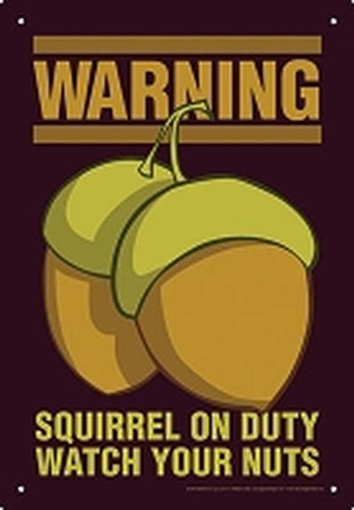 Click to get Warning Squirrel Tin Sign