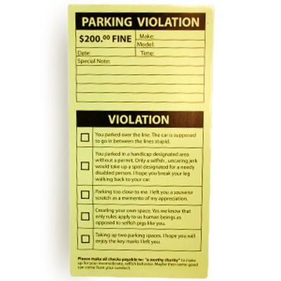 Click to get Fake Parking Tickets