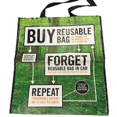 Click to get Buy Forget Repeat Shopping Bag