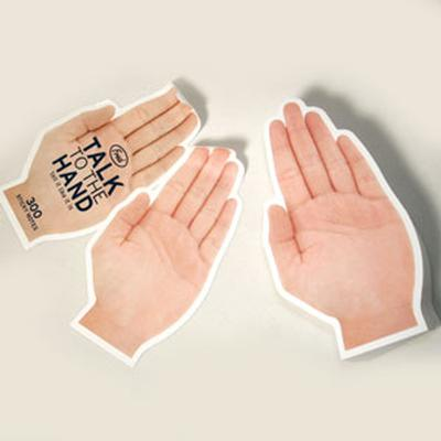 Click to get Talk to the Hand Sticky Notes